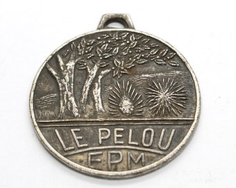Vintage Metal Medal, Saucissons Le Pelou Egletons EPM, Vintage French Metal Medal, Epm d'occasion, Paris, Vintage, Gift, Collection, France