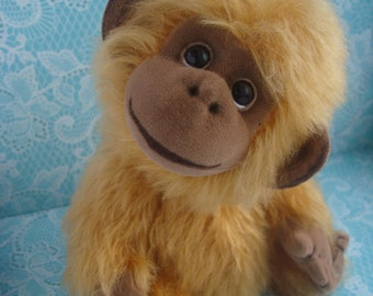 Teddy monkey. Stuffed teddy. Stuffed monkey. Teddy monkey toy. Stuffed toy. Plush monkey. Monkey plush toy. Make to order.