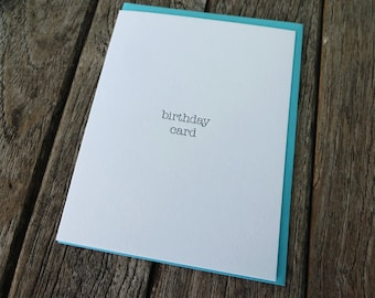 Generic Birthday Letterpress Card