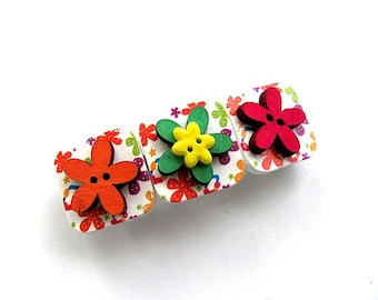 Summer Flowers Barrette FREE US Shipping