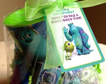Personalized Monsters Inc & Monsters University Gift Bag Tags