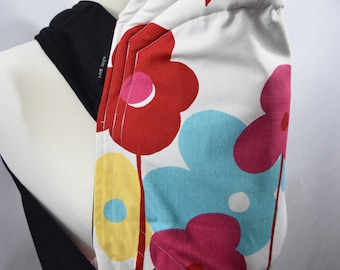 MEI TAI Baby Carrier, Bei-dai, Meh-dai  / Sling  / Reversible / Floral Extravaganzas / Straight cut model / 100% Cotton / Made in UK