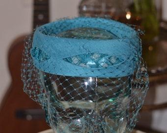 Vintage Estate Turquoise Hat