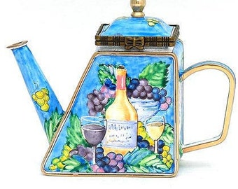 Mini Kelvin Chen teapot- Wine and Grapes