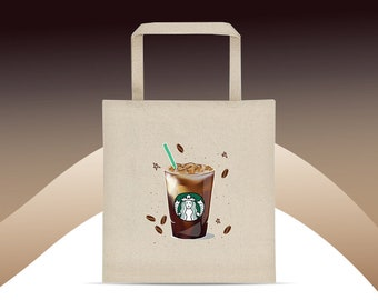 Tote bag Starbucks Design Coffee