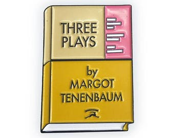 Three Plays by Margot Tenenbaum as an enamel pin! Wes Anderson, Royal Tenenenbaum inspired
