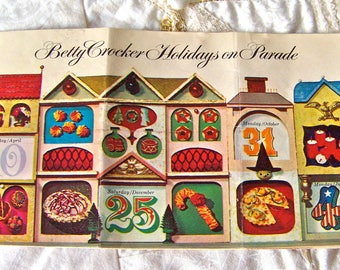 Vintage Betty Crocker's Holidays on Parade 1965 Holiday Recipes Free Shipping US