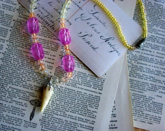 Antler & Colorful Bead Necklace