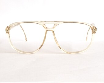 Vistasan Friso Vintage Glasses, New Old Stock Transparant Aviator Acetate Glasses.