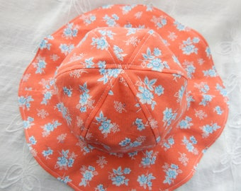 Baby Girl Sun Hat 6 Month Size