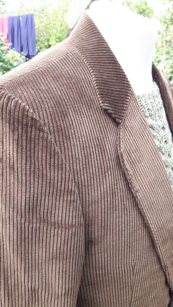 Savile Row 1970's chestnut brown cord jacket 40