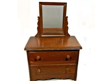 Vintage Child's Dresser with Mirror