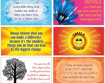 Fridge Magnets - Pack of 6 Positive Quotes