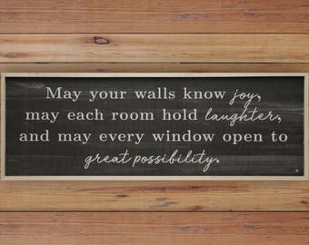 Know Joy Quote 36x12 Wood Wall Art Sign