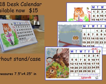 2018 Desk Top Whimsical Art Calendar