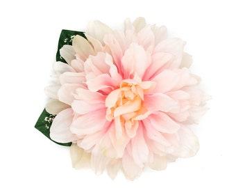 Tropical Light Pink Chrysanthemum Hair Flower