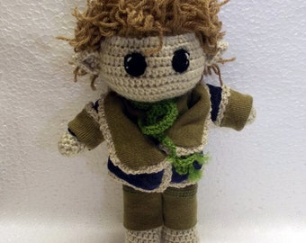 Bilbo Baggins Crochet Portrait doll Personalized gift The Hobbit Doll The Lord of the Rings Bilbo Baggins figures MADE TO ORDER