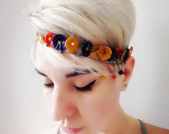 Delicate glass flower Crown