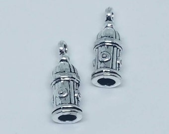 Silver Dog Fire Hydrant Charms