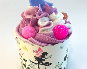 Bath bomb - Bubble bath - Bubble bar - Bath cupcake - Bath soak - Gift for her - Cupcake - Stocking stuffer - Bridal shower - Small gift