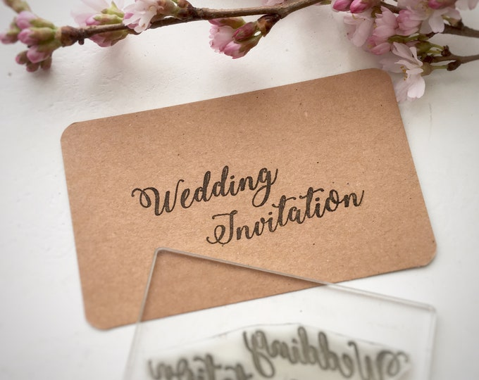 Bridal Party Rubber Stamps