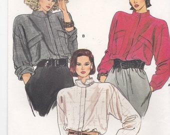 ON SALE 1980's Sewing Pattern - Vogue 9108 Misses Blouse Size 14-18 Uncut, Factory Folded