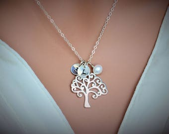 Family Tree Necklace - Mother Daughter Gfit - Mothers day personalized jewelry - Mother of the Groom gift Gift for mother in law from bride