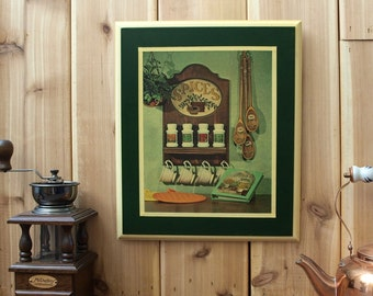 Wood Decoupage Wall Hanging Art Plaque Country Folk Kitchen