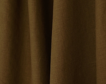 Chocolate Brown Linen Rayon Textured Fabric
