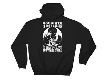 Bassist Sweatshirt Hoodie - Perfect Gift for Bass Player - Bassist Hoodie Bass Player