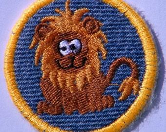 Lion  Iron On Patch / Merit Badge