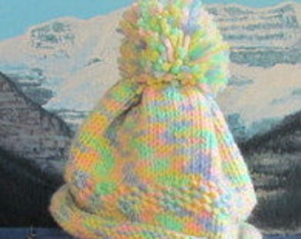 KBC 003 Hand knit baby cap 0 to 3 months