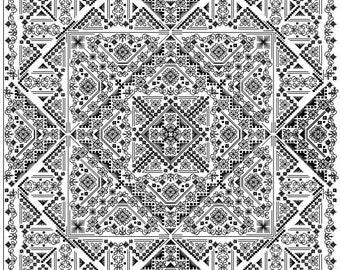 Daisy - embroidery pattern