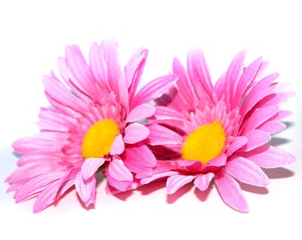 2 Pink Daisies - Arificial Flowers, Silk flowers