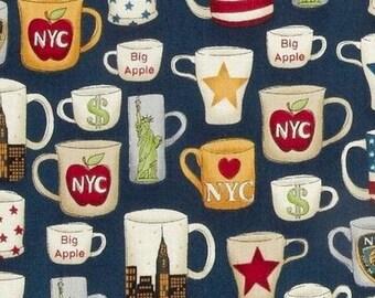 Patchwork fabric patriotic New York mug