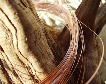 Rose Gold filled wire 18-gauge-2 ft
