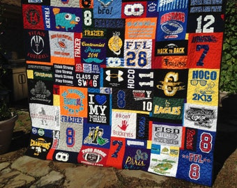 Custom Double sided Queen Puzzle T Shirt Quilt for Patricia T - 10 of 10 Final Payment