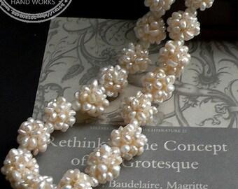 20% off sale-10 pcs pearl cluster ball- F286