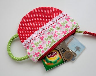 Red Tea Cup Pouch
