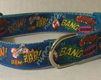 Pow! Zap! Bang! Dog Collar