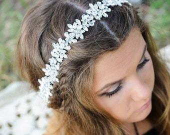 Bridal Headband, Bridal Headpiece, Crystal Headband, Wedding Headband, Bridal Hair Vine, Bridal Hair Piece, Bridal Hair Crown, Bridal Hair