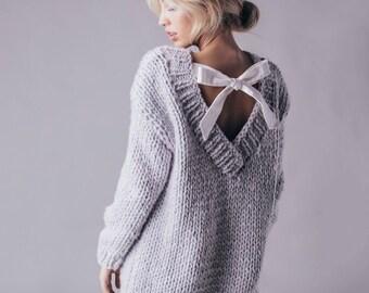 Lola Sweater. Merino wool Sweater. Chunky Sweater. Merino wool.