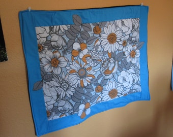 Orange Flower Quilted Wall hanging