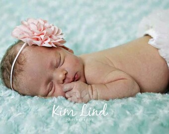Chiffon Flower Headband, Baby Headband, Girl Headband, Infant Headband, Newborn Headband, Adult Headband