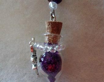 Purple Fairy Tear Drop Necklace