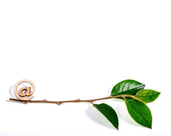 Set of 5 Images - @ Sign with a Tree Branch - INSTANT DOWNLOAD