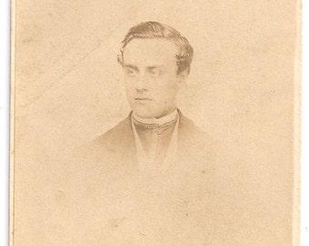 Beautiful Philadelphia dandy ID'd Fisher Simon photo cdv 1800s man