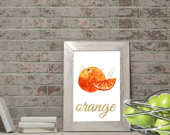 Orange print. Orange poster. Orange art. Orange. Orange wall decor. Orange wall art. Orange wall decor. Orange retro print.  Downloadable