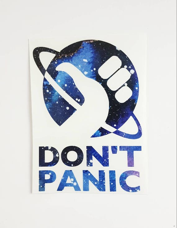 Dont panic vinyl decal more colors available
