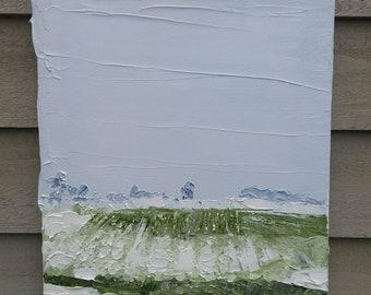 "Snowy Skies, Original oil on Canvas 10x8"" by MAOL Art, Dublin Ireland, painted plein air"